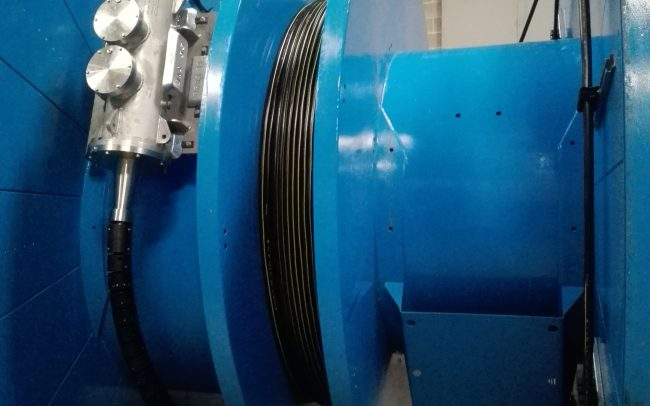 Bobinas de transporte - Cable submarino de Fibra Óptica